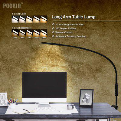 Long Arm Table Lamp Clip Office Led Desk Lamp Remote Control Eye-protected Lamp For Bedroom