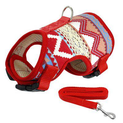 Soft Printed Dog Harness and Leash Pet Puppy Vest Jacket