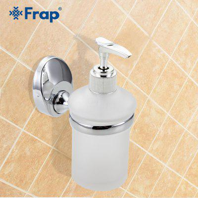 Frap 1pc Wall Mounted Liquid Soap Dispenser With Glass Container Bottle For Bathroom