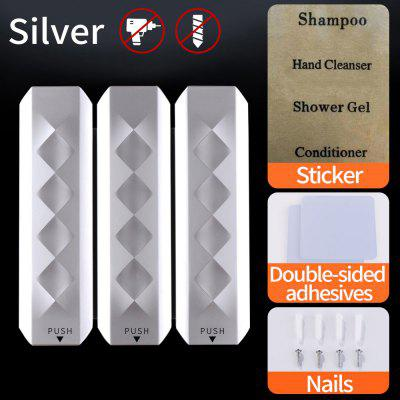 Silver 350Ml Wall-Mounted Shampoo Liquid Soap Bottle Installed In The Bathroom Soap Dispenser