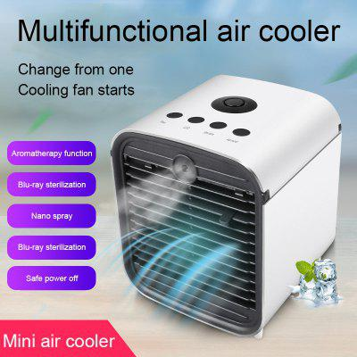 USB Air Cooler Fan with Water Cooled Portable Air Conditioner Cooling Humidifier Cool Purifies