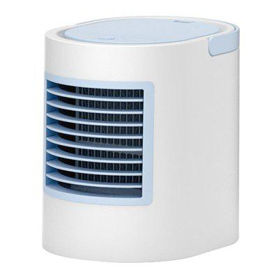 USB Air Cooler Mini Portable Silent Air Conditioner with Water Evaporative Air Humidifier