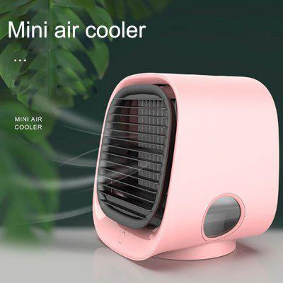 Portable Air Cooler Fan Mini Air Conditioner with Water Mist Fan USB Humidify Bladeless Ventilator