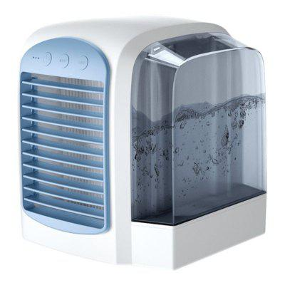 USB Air Cooler Portable Silent Conditioner Fan with Water Cooling Evaporative Humidifier