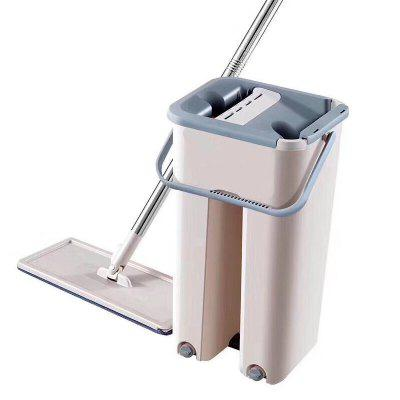 Self-Wringing Magic Mop Free Hand Washing Flat Mop Ultrafine Fiber Cleaning Cloth Home Kitchen Wooden Floor Mop Cleaner Household