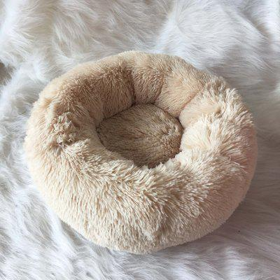 Dog Long Plush Dounts Beds Calming Bed Hondenmand Pet Kennel Super Soft Fluffy Comfortable for Large Dog Cat House