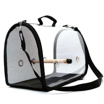 Lightweight Bird Carrier Cage Transparent Clear PVC Breathable Parrots Travel Bag 66CY