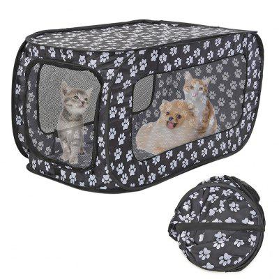 Portable Folding Pet Tent Houses Foldable Pet Fence Cat Dog Travel Cage Rectangular Dog Cage Playpen Outdoor Puppy Kennel 87CM