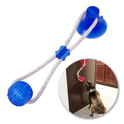 Multifunction Pet Molar Bite Dog Toys Rubber Chew Ball Cleaning Teeth Safe Elasticity TPR Soft Puppy Suction Cup Biting Dog Toy