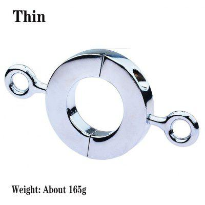 Metal Male Cock Ring Penis Ring Bondage Scrotum JJ Pendant Lock Semen Ring Extended Ejaculation Time Sex Toys For Men