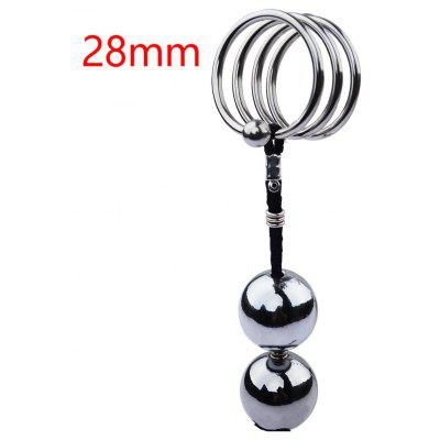 40mm 45mm 50mm for choose stainless steel butt plug ball anal hook with penis ring fetish cock chastity device sex toys for men Chastity Sex Delay Male Ball Anal Plug Device Toys Spiral Metal Beads Penis Rings Stainless Steel Training Semen Lock Cock Cage