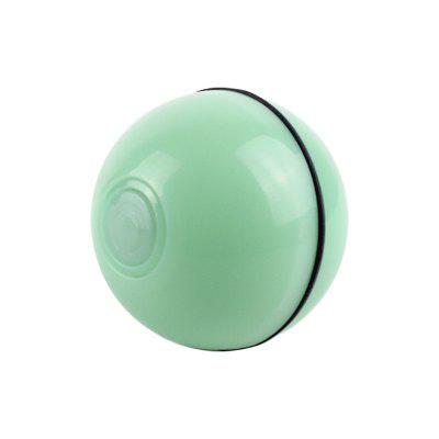 2020 Automatic Scrolling Ball Smart Funny Pet Toy USB Charging 360 Degree Self Rotating Pet Toys Colorful LED Light Drop