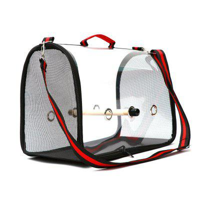 Transparent Pet Parrot Backpack Carrying Cage Outdoor Travel Comfortable Foldrable Breathable Carrier Backbag