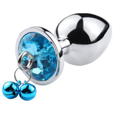 New small size Metal Anal beads butt plug jewelry crystal bell rings insert dildo insert gay Sex toys for men women
