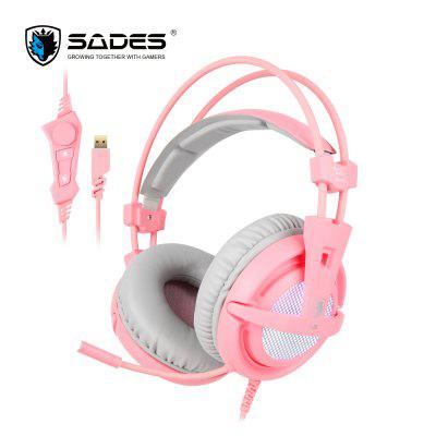 USB 7.1 Stereo Wired Gaming Headphones Game Headset Over Ear With Mic Voice Control