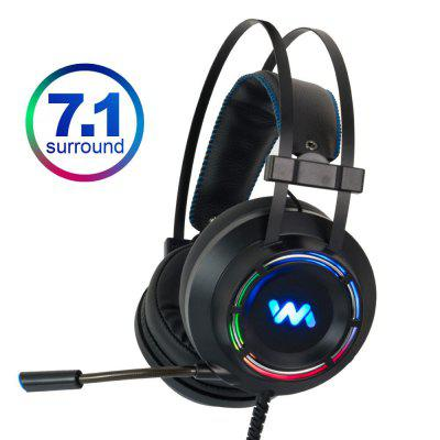 7.1 Gaming Headset Headphones with Microphone for PC ComputerSurround Sound RGB Light
