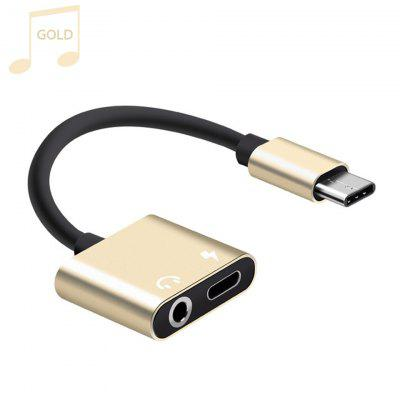 USB Type C To 3.5mm Earphone Jack Adapter Aux Audio Cable Headphone Charger Charging USB-C Converter