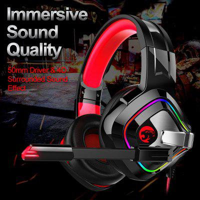 Gaming Headphones 4D Stereo RGB Earphones Headset with Microphone for PS4 New Xbox Gamer