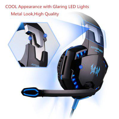 G2000 Gaming Headsets Big Headphones with Light Mic Stereo Earphones for PC Gamer PS4 X-BOX