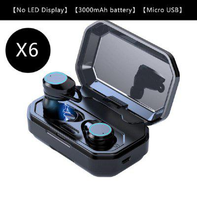 V5.0 Bluetooth Stereo Earphone WirelessTouch Earbuds Headset Type-c Charge Case Headphones