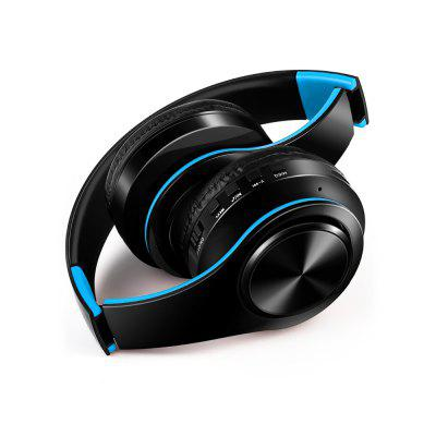 Bluetooth Headphones Over Ear Stereo Wireless Headset Soft Leather Earmuffs