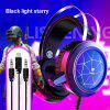 3.5mm USB Stereo Wired Gaming Headphones Game Headset Over Ear RGB With Mic Voice Control