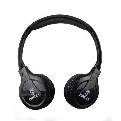 Multifunction Stereo Wireless Headset Headphones with Microphone FM Radio for MP3 PC TV Audio Phones