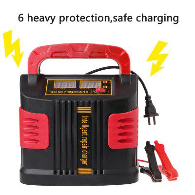 350W 14A AUTO Plus Adjust LCD Battery Charger 12V - 24V Car Jump Starter Portable