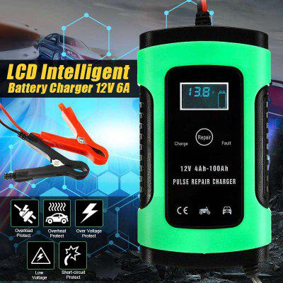 12V 5A Auto Car Intelligent Battery Charger Jump Starter LCD Intelligent Device