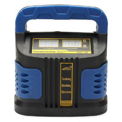 Heavy Duty Jump Starter with Dual LCD Display Intelligent Automatic Battery Charger Booster Pack
