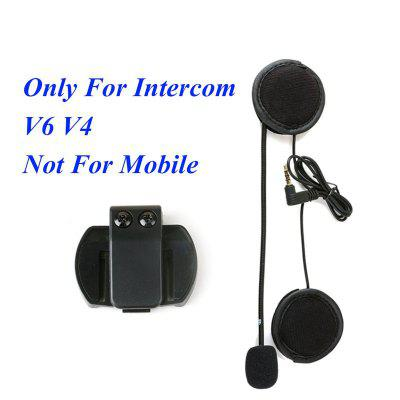 for V4 V6 Motorcycle Bluetooth Interphone Helmet Intercom Clip And Headset