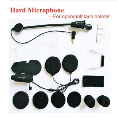 Soft Microphone Soft Cable Earphone Microphone Suit for BT-S2//BT-S3 Motorcycle Helmet Intercom Headset