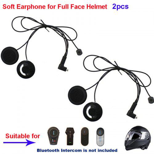 Soft Mic Speaker + Clip Hard//Soft Mic Speaker for FreedConn TCOM-SC T-COMVB Helmet Communication System