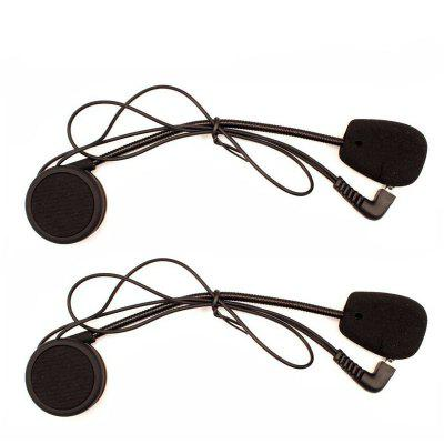 Headphone Microphone Accessories hard Earphone Suit 2 Set
