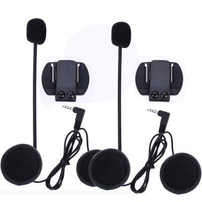 3.5MM EJEAS V6 V6 Pro Accessories Earphone Speaker Intercom Microphone Clip 2PCS
