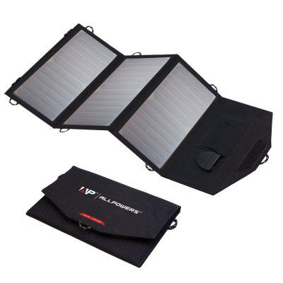 ALLPOWERS 5V 12V 18V Solar Power Bank 18W Fold Solar Charger for iPhone iPad Samsung Huawei Xiaomi.