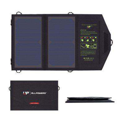 ALLPOWERS Solar Power Bank 5V 10W Fold Solar Charger for iPhone Samsung Huawei Xiaomi etc.