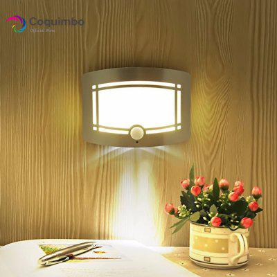 LED Acrylc Wall Lamp Battery Operated Warm White Lighting 3M Sticker Fixtures For Bedroom Livingroom