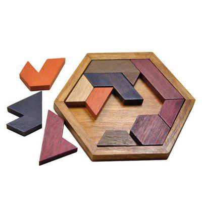 Kids Puzzles Wooden Toys Tangram Jigsaw Board Wood Geometric Shape Puzzle Children Educational Toys
