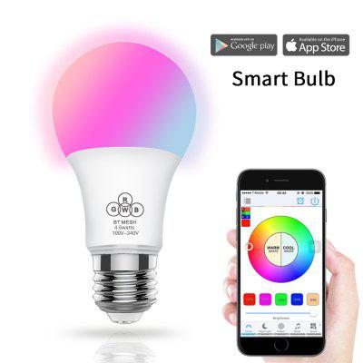 E27 Smart LED Bulbs Mobile Phone APP Control Bluetooth Light Bulb Wireless Dimming Creative Lights