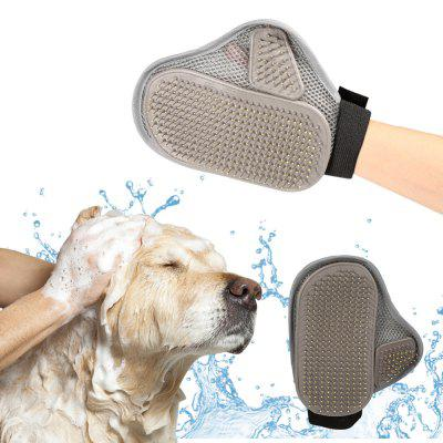 Pet Glove Brush Needle Silicone Palm Shape Dog Cat Shedding Grooming Cleaning Hair Removal Bath