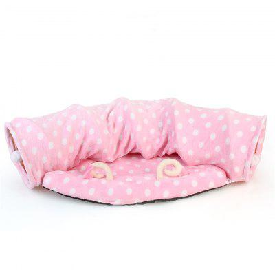 Cat Play Tunnel Funny Toy Pet Foldable Bulk Small Toys Portable Cats Bed House and Sleep with Ball