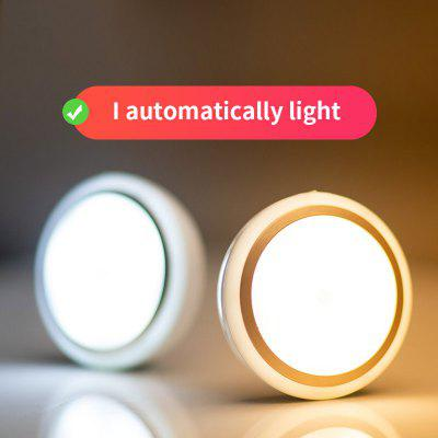 LED Smart Night Light Infrared PIR Motion Sensor Wall Light Induction Lamp for Bedroom Living Room