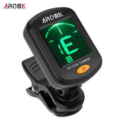 Rotatable Clip-on Tuner LCD Display for Chromatic Guitar Bass Ukulele Violin I3537
