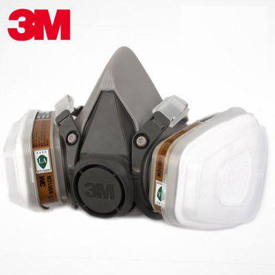 3M 6200 Half Face Respirator Dust Mask Suit Industry Spraying Safety Face Piece Gas Mask Respirator