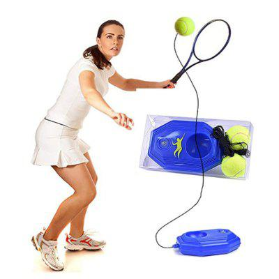 1 Set Tennis Trainer Base Training Ball with Rope Durable Easy to Use Baseboard Sparring at Home