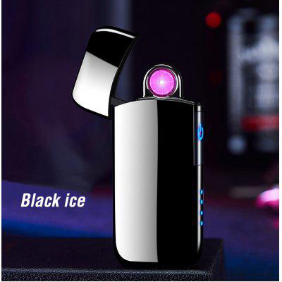 Spinning Plasma Arc Cigarette Lighter Mens Gift USB Electric Turbo Lighter Windproof Electronic