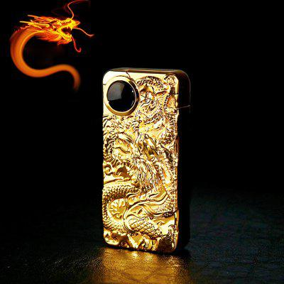 China Dragon Double Arc Wind Proof Electronic Lighter Usb Recharge Sense Touch Electric Arc