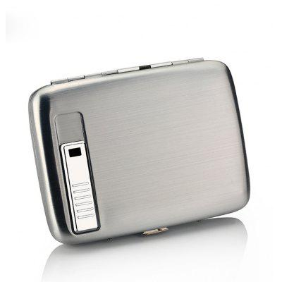 Cigarette Case Box with USB Electronic Lighter Tobacco Storage Case Cigarette Holder Electric
