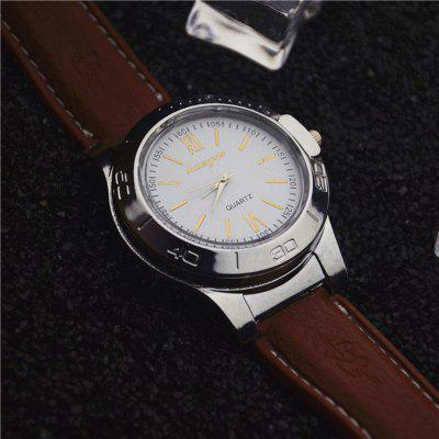 Watch Lighter  USB Charging Cigarette Lighter Windproof Sports Casual Wristwatches Clock Gift